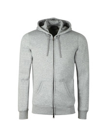 Emporio Armani Mens Grey Small Logo Full Zip Hoody
