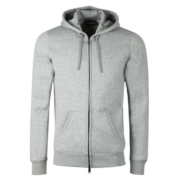 Emporio Armani Mens Grey Small Logo Full Zip Hoody main image