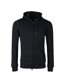 Emporio Armani Mens Blue Small Logo Full Zip Hoody