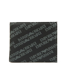 Emporio Armani Mens Black Allover Logo Wallet