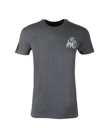 Kings Will Dream Mens Grey Stanford Velour Panel T Shirt