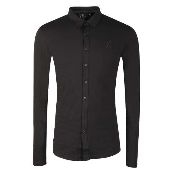Gym king Mens Black Jersey Long Sleeve Shirt main image