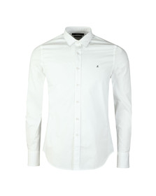 Replay Mens White L/S Slim Fit Shirt