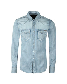 Replay Mens Blue L/S Denim Shirt