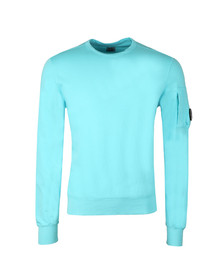 CP Company Mens Blue Viewfinder Sleeve Crew Sweat