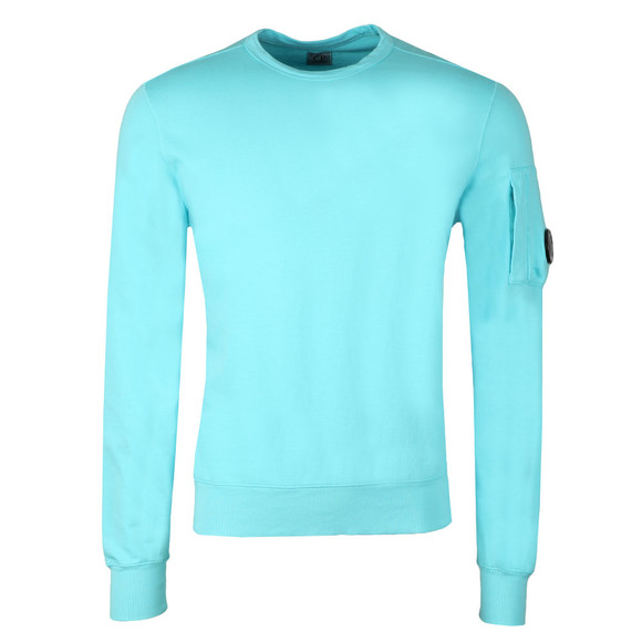 C.P. Company Mens Blue Viewfinder Sleeve Crew Sweat main image