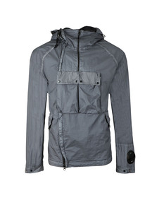 CP Company Mens Grey Nyfoil Goggle Jacket