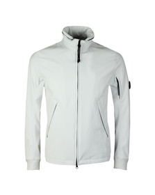 C.P. Company Mens Off-white Funnel Neck Shell Jacket
