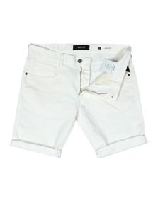Replay Mens White Anbass Denim Short