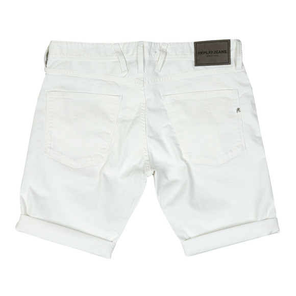 Replay Mens White Anbass Denim Short main image