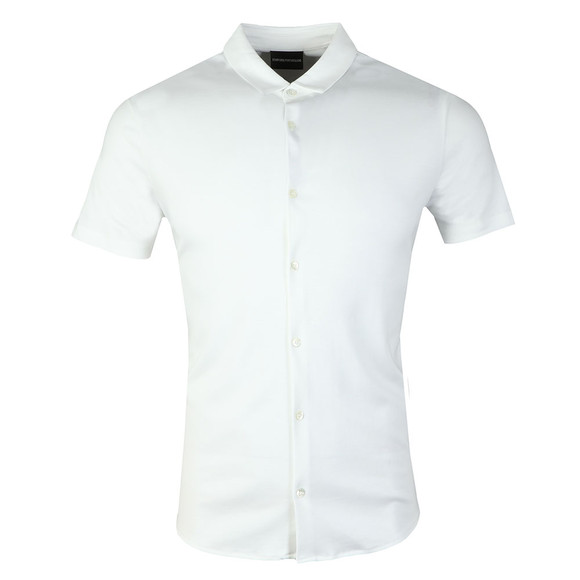 Emporio Armani Mens White Short Sleeve Jersey Shirt