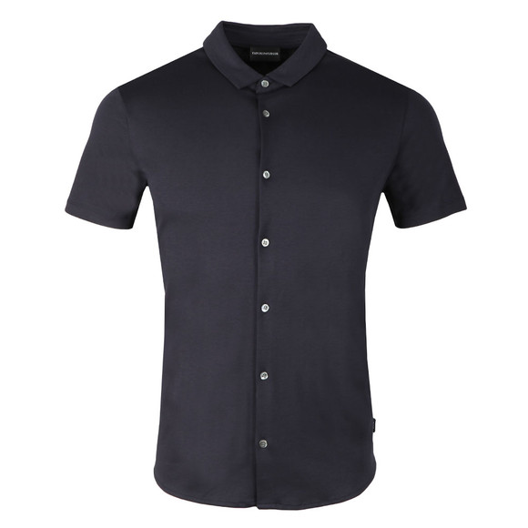 Emporio Armani Mens Blue Short Sleeve Jersey Shirt main image