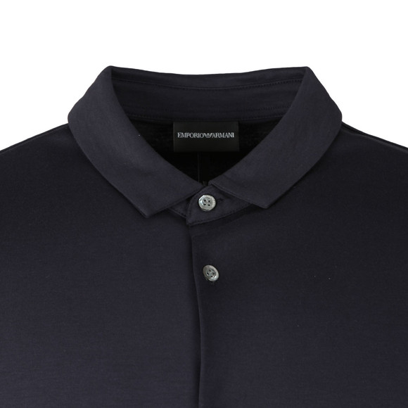Emporio Armani Mens Blue Short Sleeve Jersey Shirt