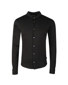 Emporio Armani Mens Black Long Sleeve Jersey Shirt