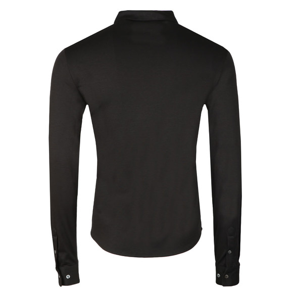 Emporio Armani Mens Black Long Sleeve Jersey Shirt main image