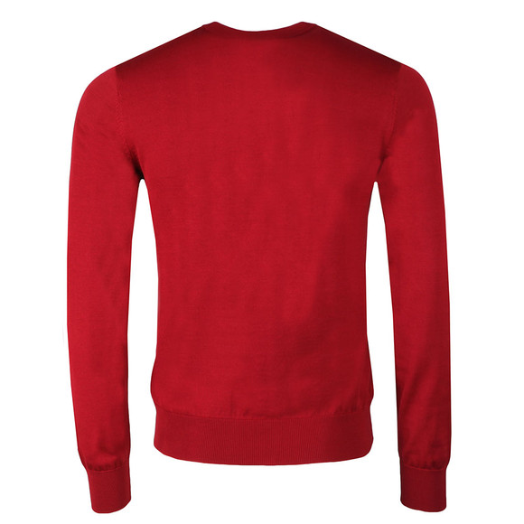 Emporio Armani Mens Red Small Logo Crew Neck Jumper main image