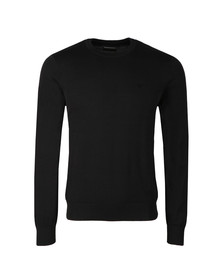 Emporio Armani Mens Black Small Logo Crew Neck Jumper