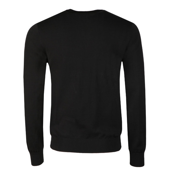 Emporio Armani Mens Black Small Logo Crew Neck Jumper main image