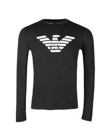 Emporio Armani Mens Black Large Eagle Logo L/S T Shirt