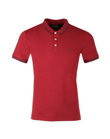 Emporio Armani Mens Red 8N1F2B Tipped Polo Shirt