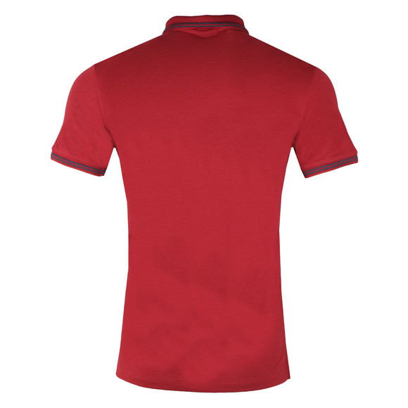 Emporio Armani Mens Red 8N1F2B Tipped Polo Shirt main image