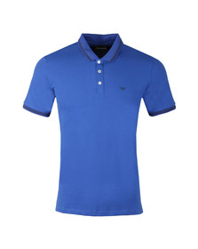 Emporio Armani Mens Blue 8N1F2B Tipped Polo Shirt