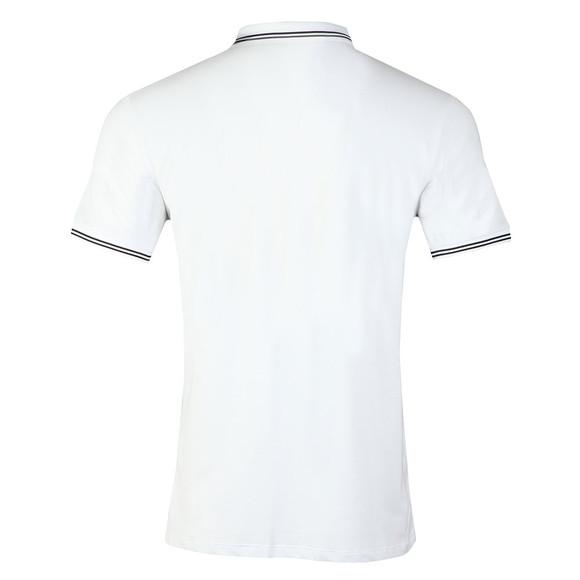 Emporio Armani Mens White 8N1F2B Tipped Polo Shirt main image