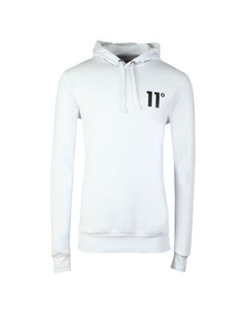 Eleven Degrees Mens White Core Pull Over Hoody