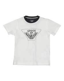 Armani Junior  Boys White 3Z4T04 Logo T Shirt