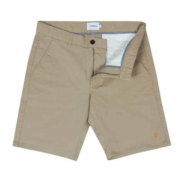 Farah Mens Beige Hawk Chino Short