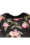 Ted Baker Womens Black Anthya Peach Blossom Woven Front Jumper
