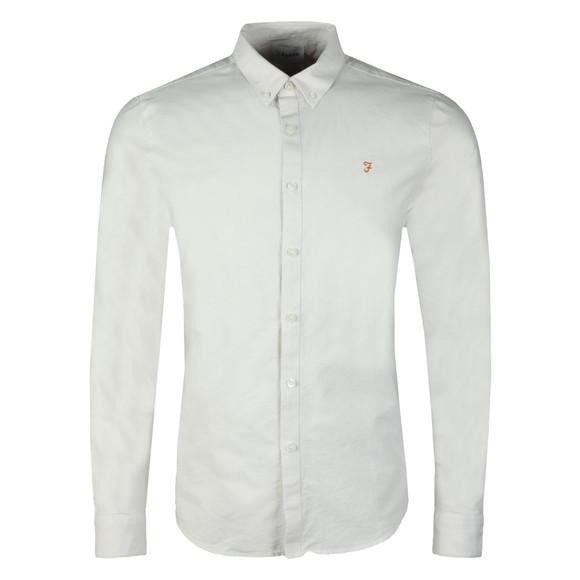 Farah Mens Grey Brewer LS Oxford Shirt main image