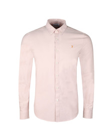 Farah Mens Pink Brewer LS Oxford Shirt