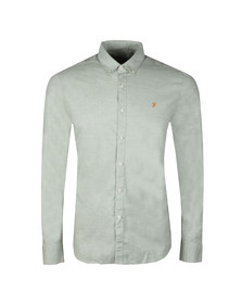 Farah Mens Green Steen Slim LS Shirt