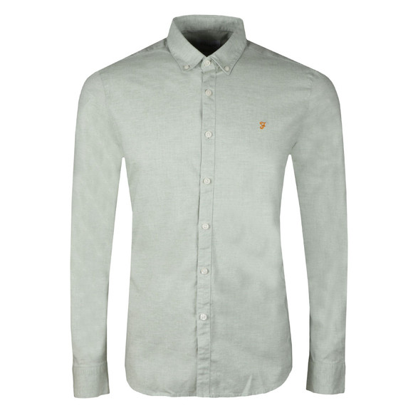 Farah Mens Green Steen Slim LS Shirt main image