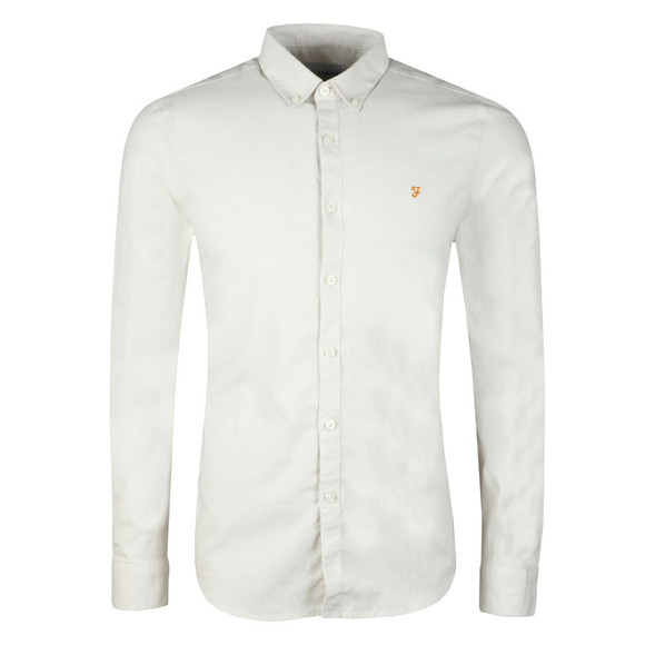 Farah Mens Grey Steen Slim LS Shirt main image