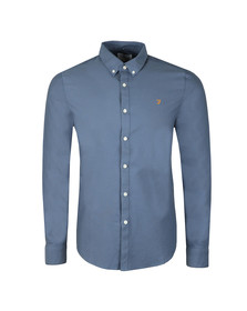 Farah Mens Blue Brewer LS Oxford Shirt