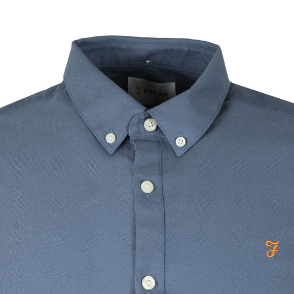 Farah Mens Blue Brewer LS Oxford Shirt main image