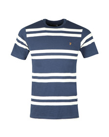 Farah Mens Blue Hewitt Stripe T-Shirt