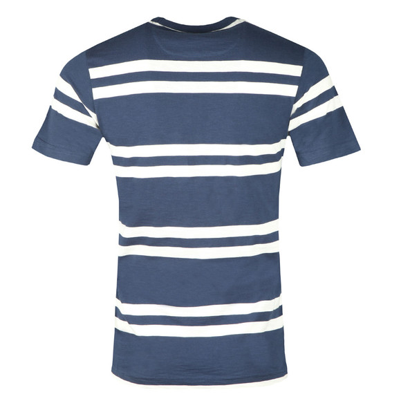 Farah Mens Blue Hewitt Stripe T-Shirt main image