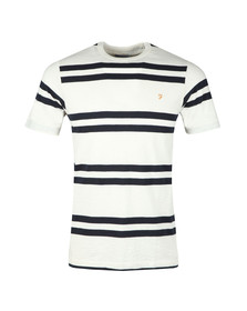 Farah Mens Off-white Hewitt Stripe T-Shirt