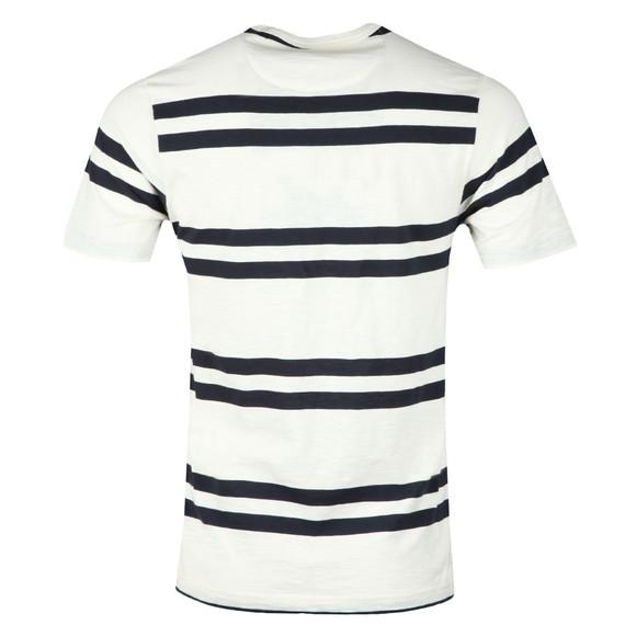 Farah Mens Off-White Hewitt Stripe T-Shirt main image