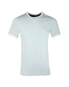 Farah Mens Blue Groves Ringer T-Shirt