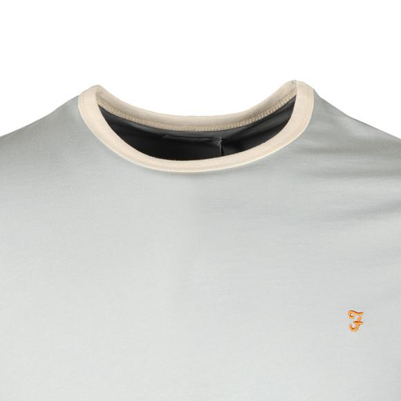 Farah Mens Blue Groves Ringer T-Shirt main image