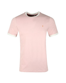 Farah Mens Red Groves Ringer T-Shirt