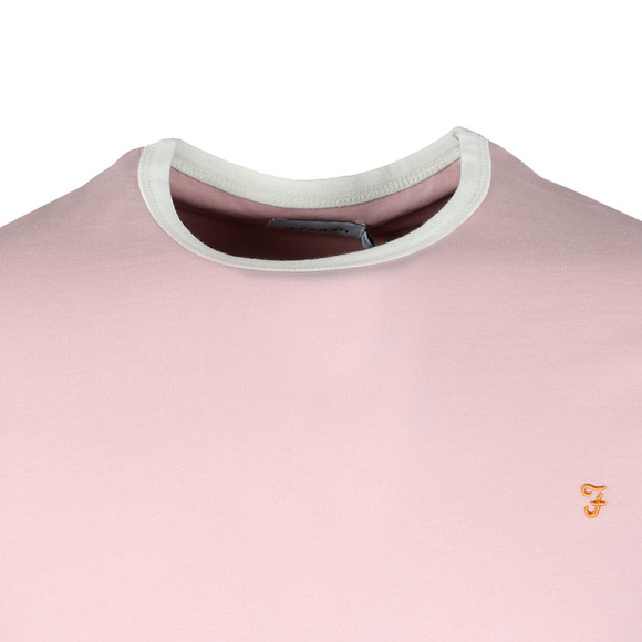 Farah Mens Pink Groves Ringer T-Shirt main image