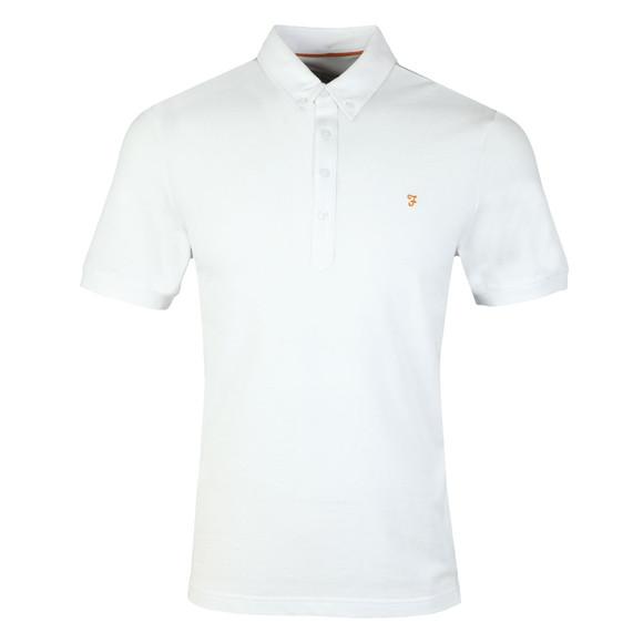 Farah Mens White Merriweather Polo Shirt main image