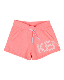 Kenzo Kids Girls Pink Side Logo Sweat Shorts