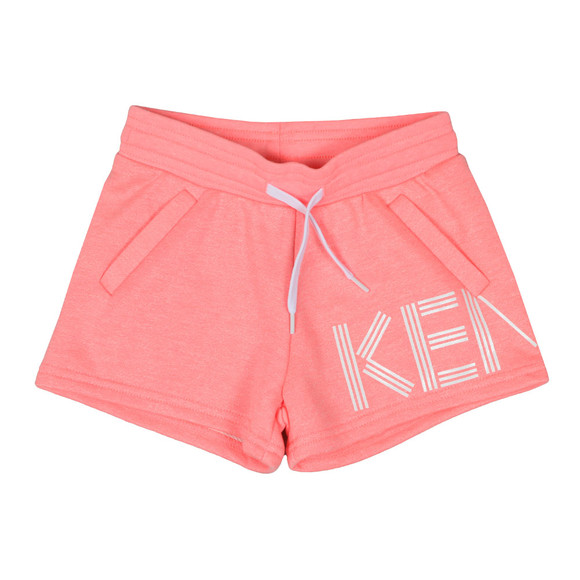 Kenzo Kids Girls Orange Side Logo Sweat Shorts