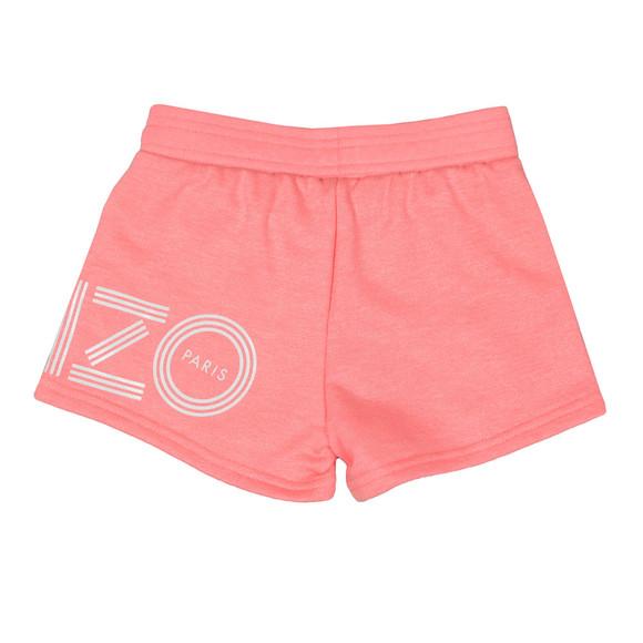 Kenzo Kids Girls Orange Side Logo Sweat Shorts